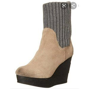 "SBICCA ""Symphony"" Suede Wedge Pull-On Bootie"